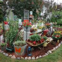 Potted plants, antiques, and monarch butterfly nursery