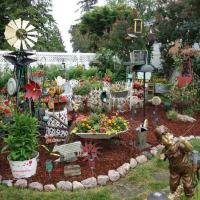 Potted plants, antiques, and monarch butterfly nursery 2